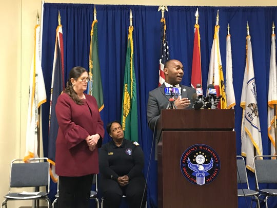 Shelby County Mayor Lee Harris speaks at the Shelby County Health Department daily press conference to declare a State of Emergency on March 19, 2020.