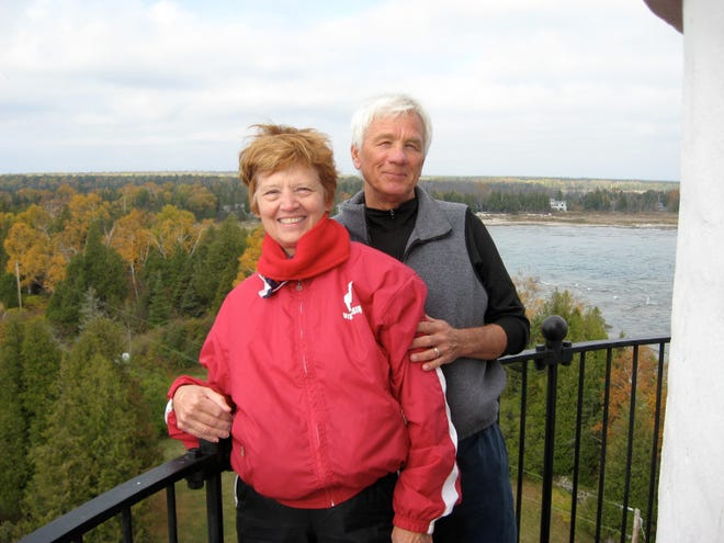 Brian Steinke, pictured with his wife, Mary, was a longtime teacher and coach at Kettle Moraine High School. Brian died on March 17 at 82.
