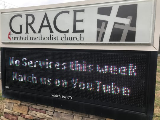 A sign for Grace United Methodist Church in Mt. Juliet.