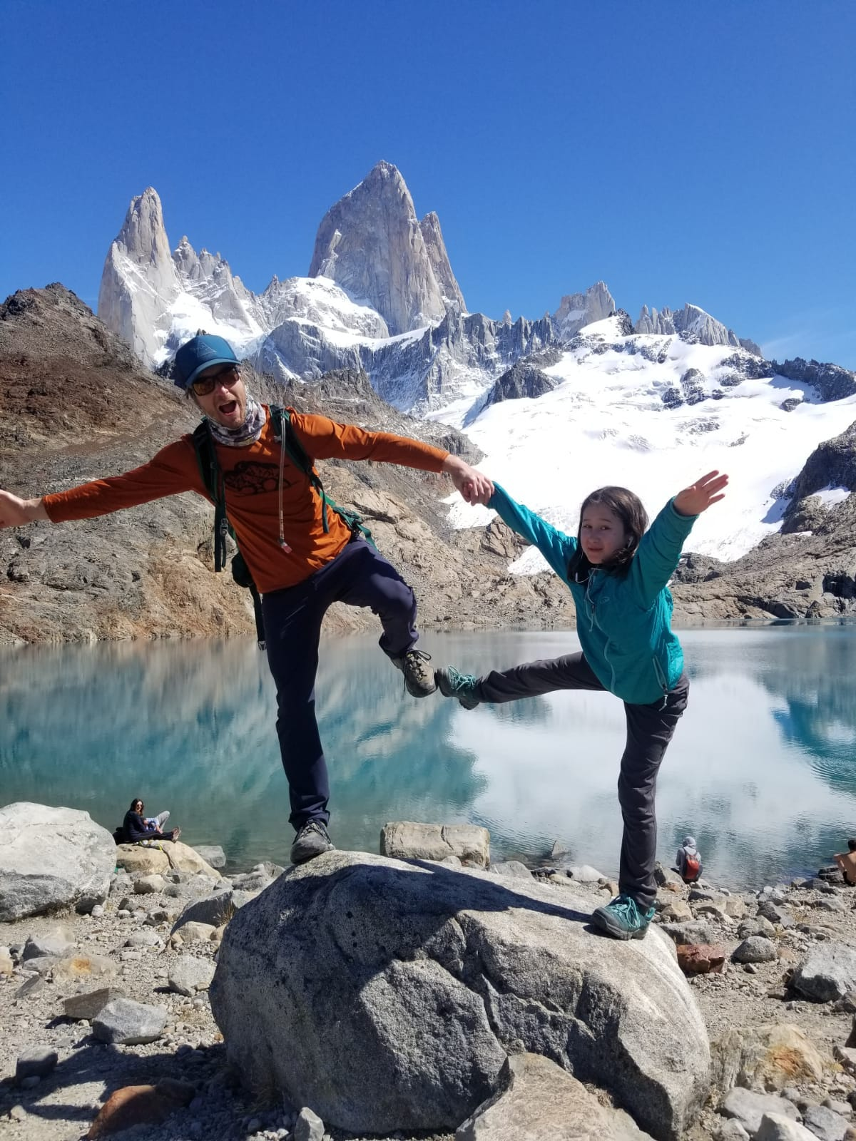 The Bailey family was approximately halfway through a three-month trip across South America when they were caught in the COVID-19 lockdown in Peru. Andrew Bailey, a professor at University of Tennessee Chattanooga, poses with daughter Anya, 8, at Parque Nacional Los Glaciers in Patagonia, Argentina.