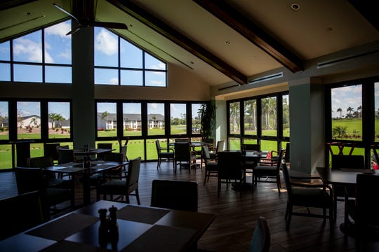 The dining room sits empty at Countryside Golf & Country Club in Naples on Wednesday, March 19, 2020. Countryside has limited its dining options to takeout only.