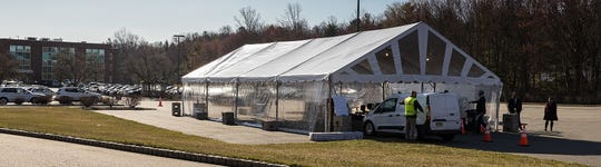 Morristown Medical Center launches County's first by appointment only drive-through testing center during the Coronavirus outbreak.