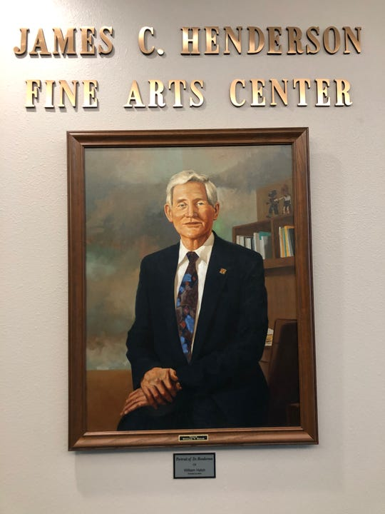 This portrait of the late James Henderson hangs in the Henderson Fine Arts Center on the San Juan College campus in Farmington.