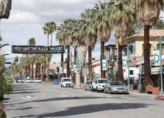 Nearly all stores except for restaurants offering takeout were closed in downtown Palm Springs, March 19, 2020.