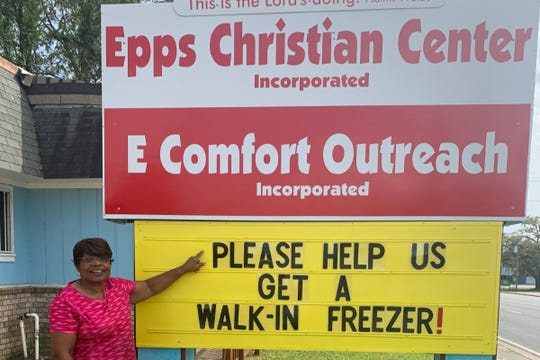 Pastor Sylvia Tisdale of the Epps Christian Center has launched a GoFundMe campaign to raise $22,000 for a walk-in freezer. The storage would help her provide milk, eggs, meat and other cold goods to the homeless and hungry.