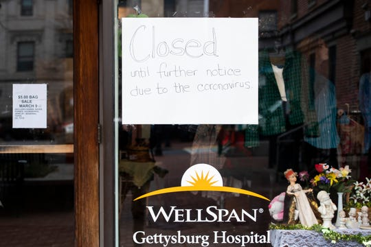 The WellSpan Gettysburg Hospital Auxiliary Thrift Shop is one of many stores in downtown Gettysburg that has closed due to the COVID-19 pandemic.