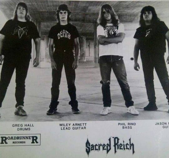 Sacred Reich press photo from the '80s.