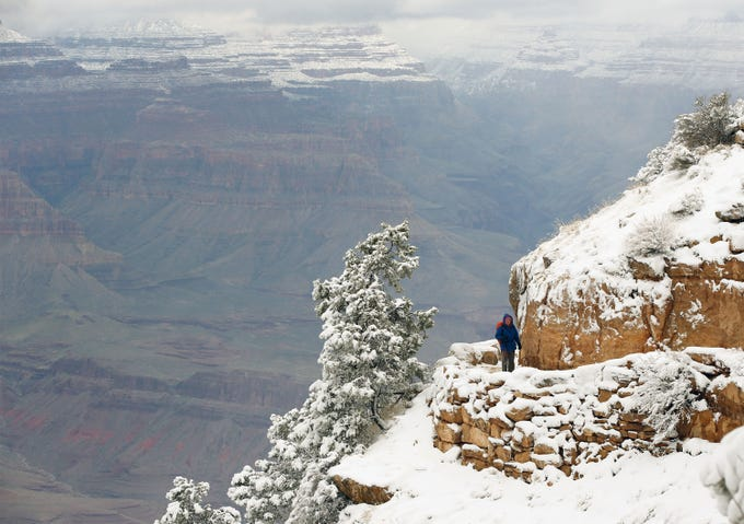 Grand Canyon covered in snow is breathtaking. Check out these photos