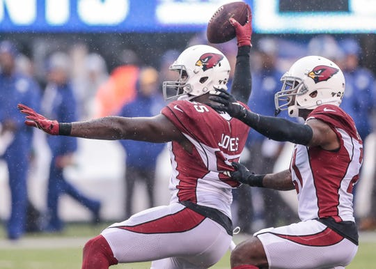 Chandler Jones (55) and Patrick Peterson (21) are the highest paid players on the Arizona Cardinals.
