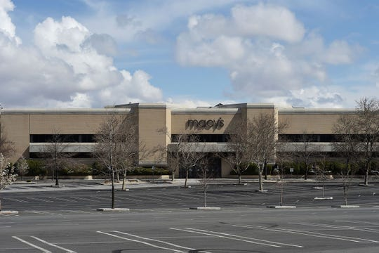 Meadowood Mall in Reno on March 19, 2020. The mall sits empty after COVID-19 forced the closure of various businesses.
