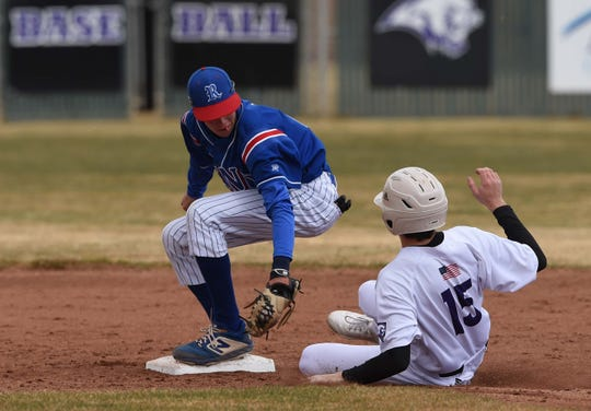 Action photos from the Reno at Spanish Springs baseball game on March 14, 2020. Reno won 9-3.