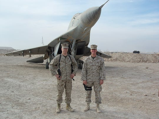 Marines in Al Anbar province, Iraq, in the War on Terror after the Sept. 11th, 2001 terrorist attacks.