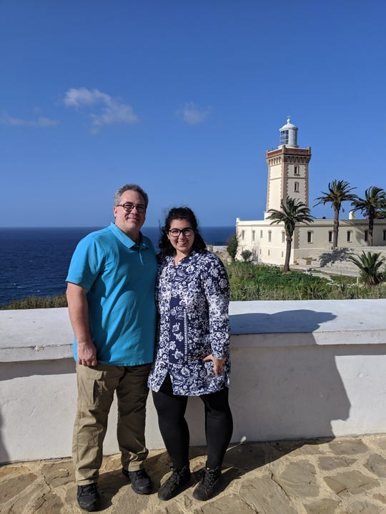 Eileah Pye and her father, Brien Pye, in Tangier, Morocco earlier this year.