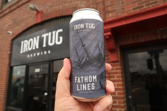 Iron Tug Brewing's Fathom Lines IPA is one of the beers available to-go at the West Ridge Road craft brewery.