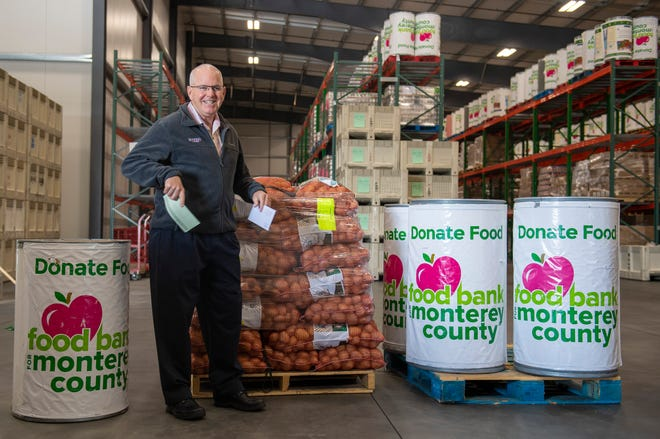 John D'Arrigo the president, CEO and chairman of the board of D'Arrigo Bros. donates $10,000 to Food Bank for Monterey County on Thursday, March 19, 2020.