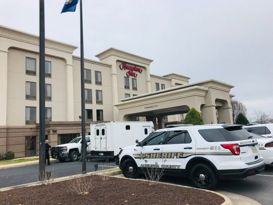 The Hampton Inn on Four Square Lane in Fishersville on March 18, 2020.