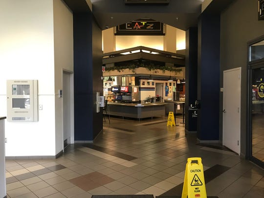 It's lunchtime but the diners found the doors to a cafe at the Southwood state office campus closed as state offices begin to shut down during the coronavirus pandemic