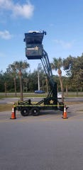 The equipment was put up to watch Martin County beach parking lots during spring break.