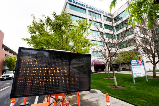 Kaweah Delta's temporary no-visitor policy began at 12 p.m. on Wednesday, March 18, at its Medical Center. Exceptions are available for end-of-life patients, labor & delivery/NICU/Pediatric patients, and dementia/developmentally delayed patients.If an exception is made for a visitor (must be the same visitor throughout the patient's stay), they will have to pass a temperature and respiratory screen. Family and loved ones looking for patients can call 559-624-2000 for patient updates.
