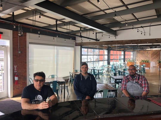 Left to right: Louie Lanza of Hudson Hospitality Group, Eric Korn of Monteverde at Oldstone and Michael Anastacio of Fin & Brew. The three are behind the new Million Gallon soup  initiative.