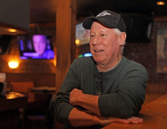 Stephen Morris co-owner of Spectators bar talks about how they let go of non-essential workers and are only open for deliveries and take out since the coronavirus pandemic in New Rochelle March 19, 2020.