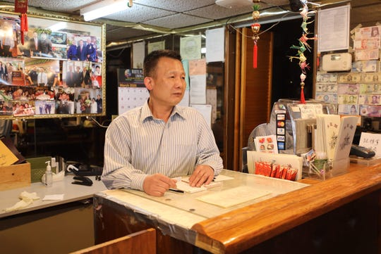 Michael Ou from the Central Seafood Chinese Restaurant on Central Avenue in Hartsdale, talks about the decline in business, March 19, 2020.