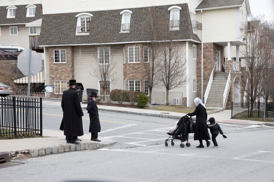 Life in Kiryas Joel amid the COVID-19 pandemic on March 19, 2020.