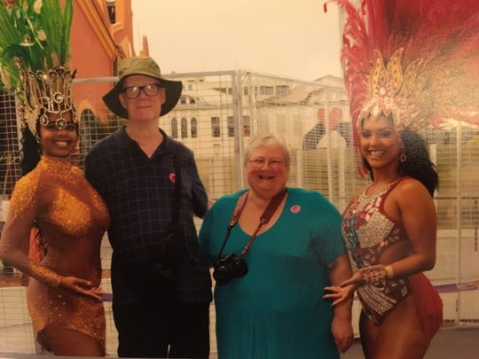 The Mulligans with some women in Rio de Janeiro.