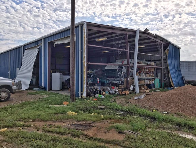An RV park in Alvord, Texas, in Wise County suffered damage from a Wednesday night tornado. No major injuries were reported.