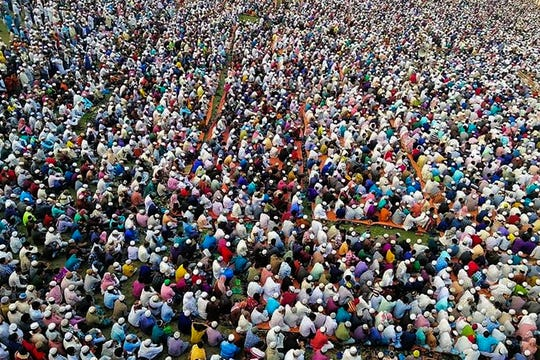 Thousands of Muslims join a special prayer in a southern Bangladesh town seeking protection from the coronavirus. The south Asian nation has confirmed its first casualty by COVID-19.