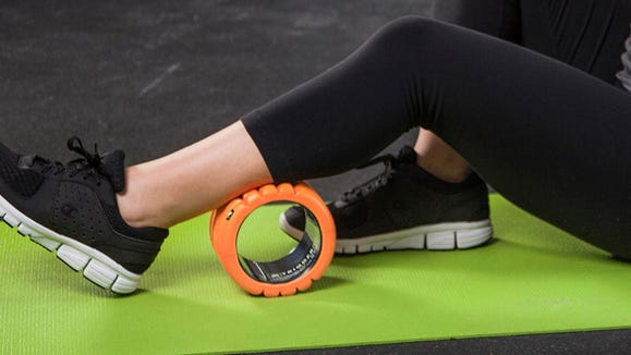 Get in more at-home workouts with this mini foam roller.