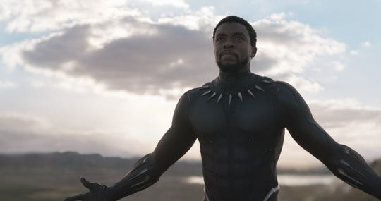 "Chadwick Boseman stars as the title Wakandan warrior of Marvel's ""Black Panther."""