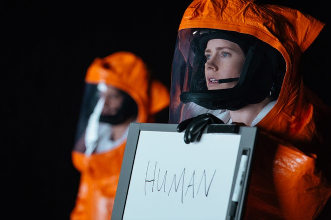 "Amy Adams stars as linguistics expert Louise Banks in the sci-fi film ""Arrival."""