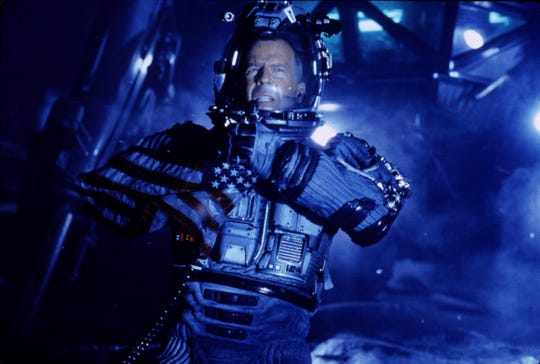 "Bruce Willis has to nuke an asteroid careening toward Earth in ""Armageddon."""