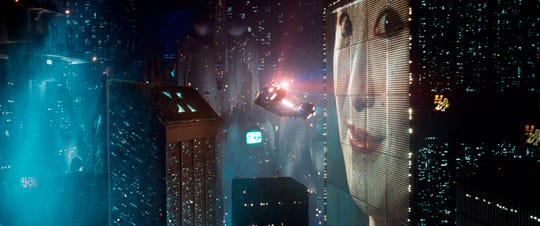 "L.A. is a futuristic, lit-up noir metropolis in Ridley Scott's ""Blade Runner."""