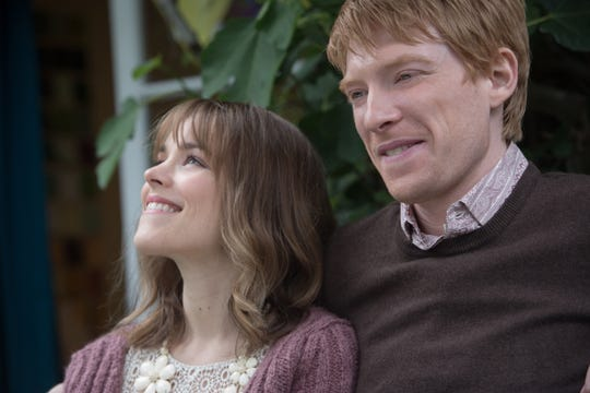 "Domhnall Gleeson is a time-traveling Brit and Rachel McAdams is his American love in ""About Time."""
