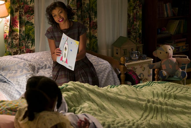 """Math genius Katherine Johnson (Taraji P. Henson) is key to America staying competitive in the Space Race in """"Hidden Figures."""""""
