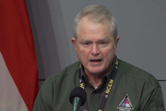 Mike Sprayberry, North Carolina director of Emergency Management, at a March 20 media briefing.