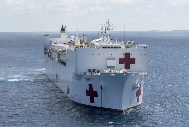 The Navy's hospital ship Mercy, seen here in an undated photo.