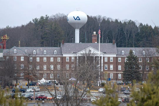 The Veterans Affairs hospital in White River Junction, Vermont, seen on Friday, March 20, 2020.