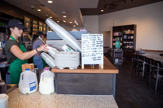 Starbucks began the trend of restaurants closing seating for guests as the coronavirus began to gain steam. Texas governor Greg Abbott issued an executive order mandating all restaurants to close, with the exception of take-out, beginning at midnight Friday through April 3.