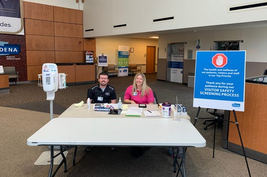 Temperature and verbal screenings are now underway at open entrances to AGMC, APMC, ARMC, all Adena Health Centers, Urgent Cares and the Adena Cancer Center. Staff, visitors and patients are being asked a series of COVID-19 screening questions; and everyone must undergo a temperature check before entering the facility.