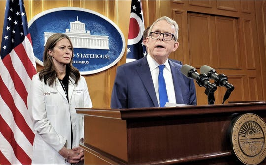 March 9, 2020: Ohio Gov. Mike DeWine, accompanied by state health director Dr. Amy Acton,  announced Ohio's first cases of the new coronavirus.