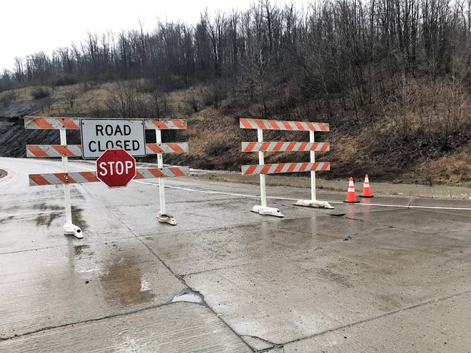 Flooding on Ohio 16 caused the closure of the road Friday morning at the intersection of Ohio 60 near Dresden. It was also closed near Ohio 83.