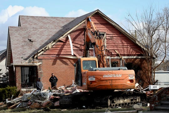 A home on Archdale street near Warren Avenue in Detroit exploded around 4 a.m. on Friday, March 20, 2020.