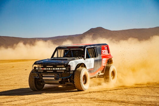 Ford's Bronco R race prototype debuts in the desert to celebrate 50th anniversary of Rod Hall's historic Baja 1000 win, an overall victory in a 4x4 that's never been duplicated in 50 years.