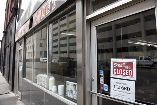Lafayette Coney Island in Detroit has closed because of the coronavirus, Friday, March 20, 2020.