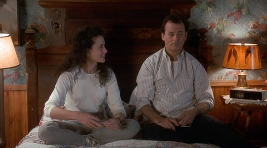 """Andie MacDowell and Bill Murray in """"Groundhog Day."""""""