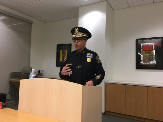 Detroit police chief James Craig tells reporters 5 officers and a civilian employee were diagnosed with COVID-19 virus, while 152 officers have been quarantined.