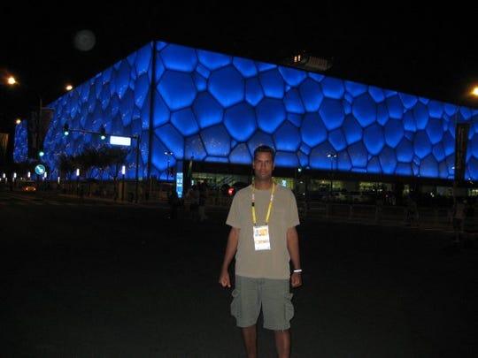 John Niyo at the Beijing Olympics.